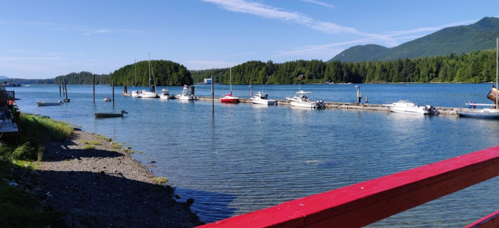ucluelet dock near our Airbnb